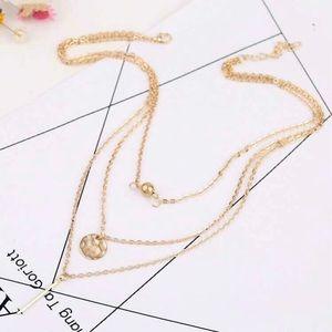 5/$12💞 Gold Layered Boho Style Fashion Necklace